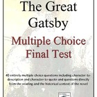 The Great Gatsby Multiple Choice Test
