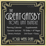 The Great Gatsby Unit Plan, FOUR FULL WEEKS of Dynamic Lessons