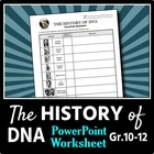 The History of DNA - PowerPoint Worksheet