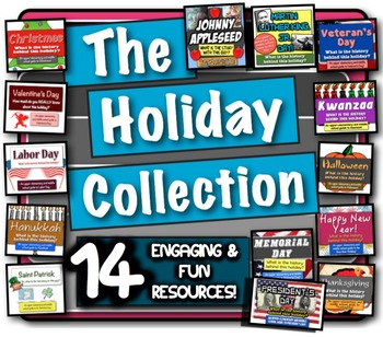 The Holiday Collection: 11 fun lessons to learn the history behind the holidays!