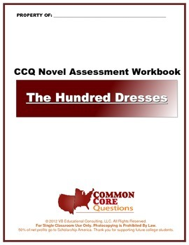 The Hundred Dresses - Common Core Aligned Assessment Packet