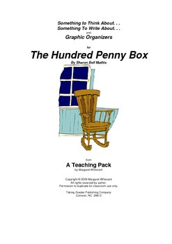 The Hundred Penny Box   Thinking, Writing Prompts, Graphic