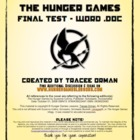 The Hunger Games Final Exam with Vocab - Word Doc