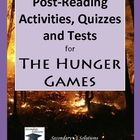 The Hunger Games Post Reading Activities, Quizzes and Tests