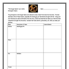 """The Hunger Games"", by S. Collins, Participant Token Chart"