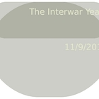 The Interwar Years Powerpoint
