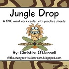 The Jungle Drop: CVC literacy center, word work + more!