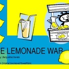 """The Lemonade War"", by J. Davies, Interactive Novel PowerPoint"