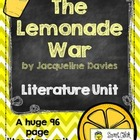 """The Lemonade War"", by J. Davies, Literature Unit, 96 Tota"