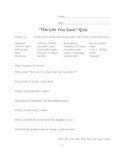 """""""The Life You Save May Be Your Own"""" by O'Connor Quiz"""