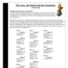 The Lion, the Witch and the Wardrobe Reading Word Study Vo