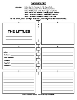 The Littles Tiny Book Report Form