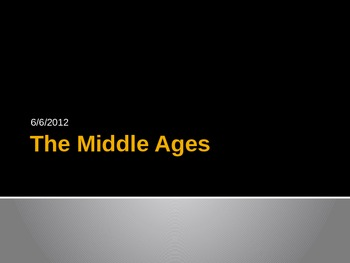 The Middle Ages Lecture