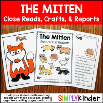 The Mitten Close Reading & Writing Journals { Simply Kinder }