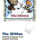 The Mitten reading file folder/lap book activity