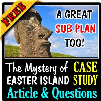The Mystery of Easter Island - An Ecology Case Study Activity FREE