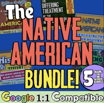 The Native American Bundle!  5 Lessons for Tribes, Regions, Treatment, & Culture