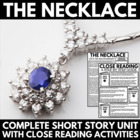 The Necklace - 33 Page Unit with Questions, Vocab, and Activities