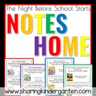 The Night Before School Notes for Books FREEBIE