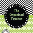 The Organized Teacher {Editable Planner in Black & Green