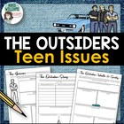"""The Outsiders"" - Teen Issues Graphic Organizers / Discuss"