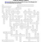The Outsiders: Prereading Crossword--Familiarizes students