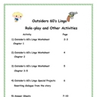 The Outsiders Slang and Idioms-1960's Lingo Worksheets
