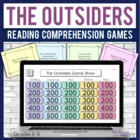 The Outsiders reading comprehension GAME