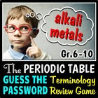 The Periodic Table - Guess the Password Terminology Review Game