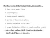 The Preamble: Six Goals of the Constitution