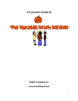 The Pumpkin Patch Parable Curriculum Guide