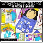 The Recess Queen {10 graphic organizers & 2 craftivities}