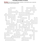 The Red Badge of Courage: Prereading Vocabulary Crossword-