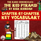The Red Pyramid Spelling Vocabulary Word Study Activity