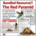 The Red Pyramid by Rick Riordan Reading Activities Super Bundle