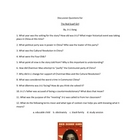 The Red Scarf Girl Discussion Questions Handout