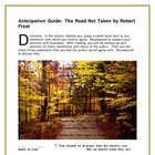 The Road Not Taken--Anticipation Guide
