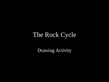 The Rock Cycle Drawing step by step PPT Activity