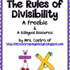 The Rules of Divisibility - a student reference chart in E