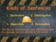 The Sentence PowerPoint Presentation