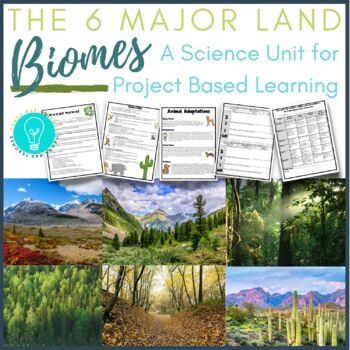 The Six Major Land Biomes: A Science Unit and Research Pro