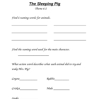 The Sleeping Pig Anthology Activity