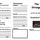 The Stranger Vocabulary Foldable