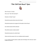 """The Tell-Tale Heart"" by Edgar Allan Poe Quiz"