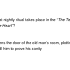 The Tell Tale Heart by Edgar Allen Poe (flash cards)