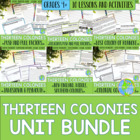 The Thirteen Colonies ! UNIT BUNDLE