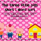 The Three Little Pigs Short I Word Sort Literacy Center