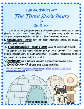 The Three Snow Bears by Jan Brett - Fun Winter Activities!