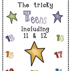 The Tricky Teens numbers 11-19