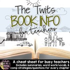 The Twits Book Info Sheet Freebie